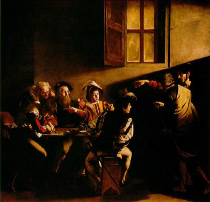 Caravaggio's 'The Calling of St. Matthew' - The Contarelli Chapel, Church of St. Louis of France, Rome